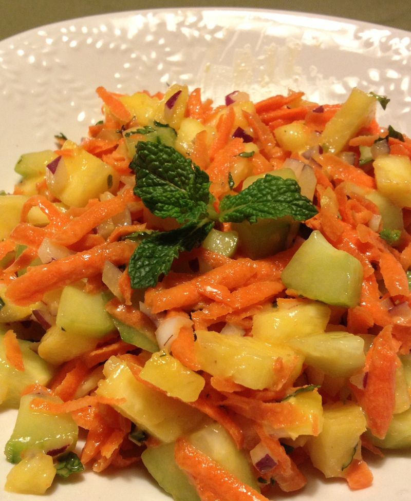 Pineapple carrot salad